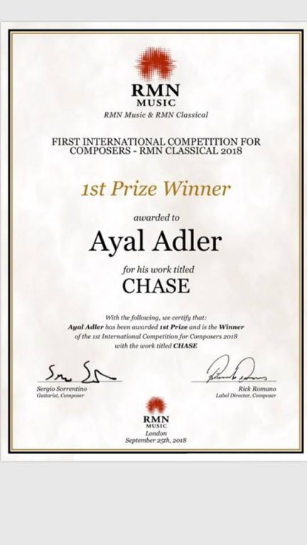 Chase, for Electric Guitar - Winner of the RMN Music International Composition Competition 2018  - 2018